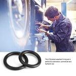 Zerodis 279Pcs/Kit 18 tailles caoutchouc O-Ring Assortiment Kit, Noir O Ring Joints D'étanchéité Hydraulique Plomberie Joints