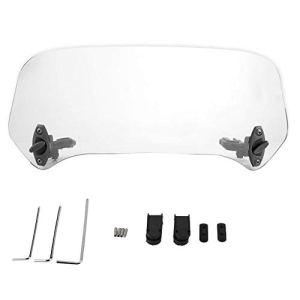 Aramox Déflecteur d'air de spoiler de pare-brise modifié par moto universelle réglable (Transparent)