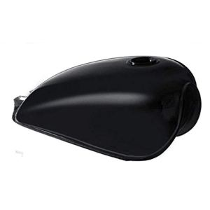 Réservoir d'essence universel haute performance Cafe Racer Citerne BOBBER pour Suzuki GN125 GN250 GN facile à installer – Noir brillant