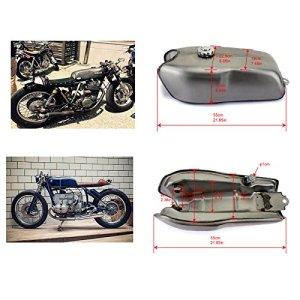 TARAZON 2.4 gal réservoir de carburant de gaz 9L Cafe Racer Universel 2.4 Gallon Vintage Gas Tank