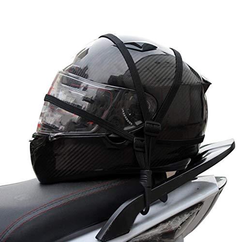 1 Size Motocyclette Bagages Casque Corde ÉLastique Rétractable Sangle ÉLastique Rétractable Casque Moto Bagages Corde avec 2 Crochets – Noir