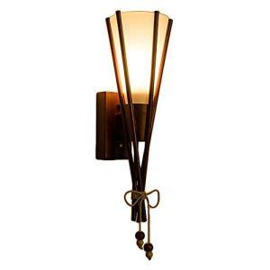 Accessoires De Chambre Lampe de mur de verre en bois Vintage Style de l'Asie du Sud éclairage nuit Chambre Chambre Dessin Balcon Aisle tête unique corde de chanvre Pendentif Wall Light W Appliques Mur