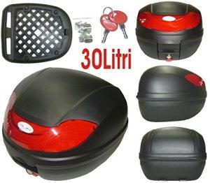 A-Pro 5180000072902Topcase Moto Roller 30lt Étui Universel GEPA Boîte d'angle Valise Mat Noir