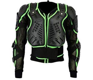 ba-002| Motocross Moto motorcyle Protection pour femme Body Armour d'équitation VTT Cyclisme Patinage Snowboard Track Crash Guard Approuvé CE–Vert – vert – XXX-Large