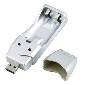Batterie NiMH rechargeable AA Chargeur USB haute capacité AAA/AA * 2 = 160mA USB Entrée DC5V Port USB/Convertisseur CA alimenté