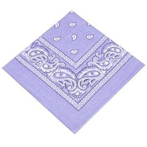 Buckingham Boutique Bandana Lilas/Hankerchief/Cravate/Cravate/Cou/Mouchoir avec motif cachemire – 100% coton – Pour homme, femme et enfant – Excellente qualité.