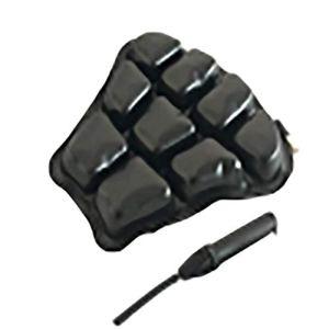 Coussin de siège gonflable gonflable respirant antidérapant absorbant les chocs noir siège 32x32cm