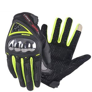 CQQO Gants De Moto Été Section Mince Respirant Paire De Gants De Course Hors Route for Motards (Color : Green, Size : 21cm×8.5cm)