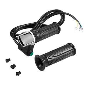 Dilwe Throttle Grip Imperméable Écran LCD Poignée de Poignée Accélérateur Twist Grips et Bent Cable Set pour Les Voitures électriques Bike(48V)