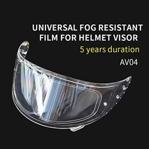 Film anti-buée pour casque, film pour casque Insert anti-buée universel pour casque, autocollant pour lentille de casque de moto, film anti-buée, film protecteur anti-buée 3,54″x 10,63″ Insert de moto