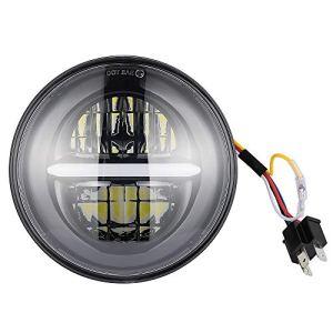 FREESOO 5-3/4»5,75» Projection Daymaker Phare Ronde LED pour Harley Davidson Hi/Lo Faisceau Phares LED 30W Phares Avant pour Moto 12V Projecteur à LED de Route Rond Projecteur Ampoule Blanc