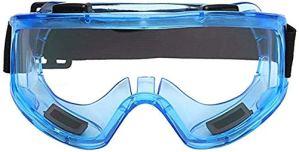 Gaojian Travail des Lunettes Anti-salivaire Lunettes des Lunettes de Protection Anti-poussière avec des Lunettes Anti-Brouillard Transparent avec Protection latérale intégrée,Bleu