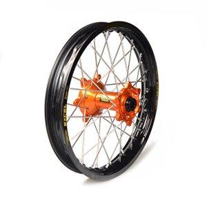 Haan Wheels-61606 : roue complète Haan Wheels Bague Noir 18-4,25 moyeu Orange 36322/3/10
