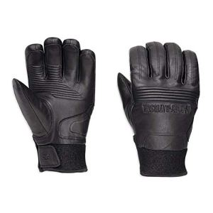 Harley-Davidson Official Men's Cyrus Insulated Waterproof Gloves, Black