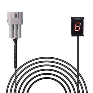 Indicateur de Vitesse étanche Moto Affichage LED Plug & Play pour Suzuki (Rouge)