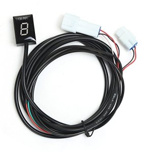 Indicateur de Vitesse étanche pour Moto Affichage LED Plug & Play pour Yamaha (LED Vert)