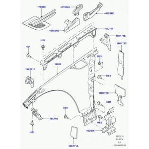 Land Rover – garniture d'insonorisation capot Range L405, Sport