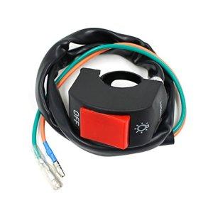 LEORX Moto guidon Mount phare Foglight moteur ON/OFF interrupteur bouton