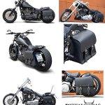 'BUFFALO Bag Sacoche de selle «Boston pour Harley Davidson Softail Fat Boy & Fat Boy Special (1992) Noir–28L–avec support pour les côté gauche