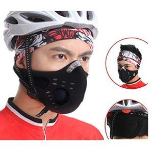 Masque de Sport Masque de Vélo Moto Demi Cagoule Moto Cyclisme avec Filtre de Charbon Actif