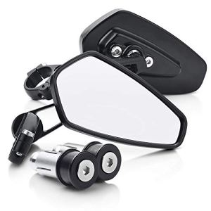 MICTNUING Rétroviseur Moto Universel Boulon 8mm pour Guidon Creux 7/8 pouces(Lot de 2)