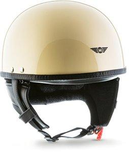 Moto Helmets D22-MonoBraincap Casque demi-coque de moto, de scooter Vespa, casque Pilot Cruiser Scooter, mobylette, vélo, chopper Rétro Vintage Avec housse en plastique