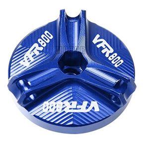 Moto M20 * 2,5 CNC en aluminium d'huile moteur PAC Plug de remplissage d'huile Coupe du couvercle Boulon Vis for Honda VFR800 / VFR800F / VFR 800 VTEC/Fi / W1 (Color : Bleu)