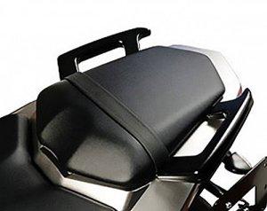 MotorbikeComponents, poignées arrière pour passager noir–Yamaha FZ12008
