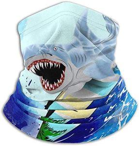 NA Surfing Shark Cagoule en Microfibre pour Le Cou