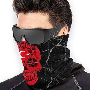 NA Turquie Drapeau de Sucre Crâne en Microfibre Cagoule en Polaire Doux Masque pour Hiver