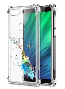 Oihxse Transparent Silicone Mignon Case Compatible pour OnePlus 7 Coque TPU Souple Ultra Mince Housse Clear Crystal Design Motif Anti-Scrach Protection Etui Bumper (A3)