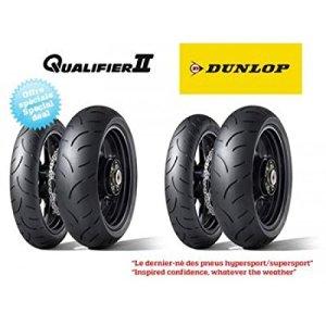 Pack de 4 pneus hypersport dunlop qualifier ii (2x 120/70… – Dunlop 5740030008