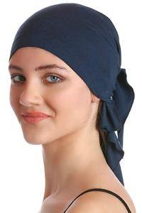 Plaine Unisexe Bandana Pour Perte De Cheveux, Cancer, Chimio (Denim)