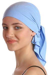 Plaine Unisexe Bandana Pour Perte De Cheveux, Cancer, Chimio (Sky Blue)