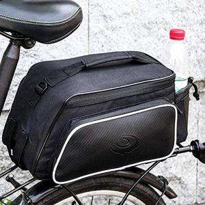 poetryer Sacoche De Selle Vélo, Sacoche pour Arrière De Vélo Porte-Bagages, Arrière De Transport Vélo du Siège Sac, 10L, 39 X 15 X 17cm pour VTT Cyclisme