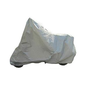 Protection complète de la Moto Couvre Anti-UV imperméable à la poussière étanche à la Pluie Couvrant la Moto Respirante Capuche en Plein air intérieur Tente-Argent M