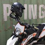 Protège Main Plastique pour Poignée de Moto Taille Universelle Insert Aluminium 22mm