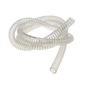 Refroidissement Tuyau Moto Force, Transparent, avec Spirale en Acier, D = 15x 22mm, 1mètre (pour MINARELLI Moteur)