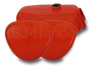 Réservoir à carburant + couvercle latéral rouge pour Simson S50, S51, S60, S70
