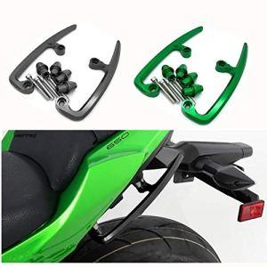 RONGLINGXING Pieces de Sport Motorise For Kawasaki Z650 NINJA650 NINJA 650 Z 650 2017 2018 2019 arrière Barres arrière Grab Siège passager Pélion Poignée de rail (Color : Green)