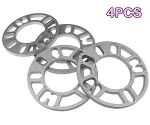 SALAKA 4PCS 4/5 Stud Entretoises de Roue en Alliage d'aluminium Plaque Cales Entretoises de Roue Cales Plate pour Autocar
