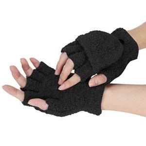 Tonsee® Gants Femmes Filles Mesdames main poignet Warmer hiver Mitaines Mitten (noir)