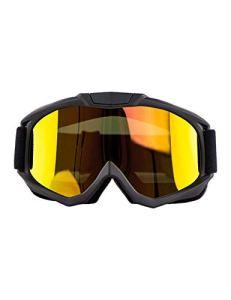 WYSTAO Lunettes de Protection UV Coloré Rétro Moto Hors Route Lunettes Moto Miroir Pare-Brise Dust Mirror Hommes et Femmes Équipement d'équitation en Plein air (Color : 2)
