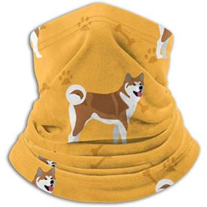 Xian Shiy Akita Dog Asian Breed Colorful Scarf, a Full Face Mask or Hat, Neck Gaiter, Neck Cap Mask, Half Mask, face Ma