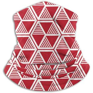 Xian Shiy Écharpe à motif de rayures triangulaires hexagonales régulières, un masque complet ou un chapeau, un cache-cou, un cache-cou, la moitié