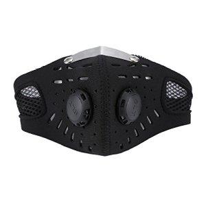 YYCOOL Demi-masque pour le visage, résistant au froid et à la poussière – Masque de protection en charbon actif – Masque de protection pour le visage – Pour le ski, le vélo, la moto