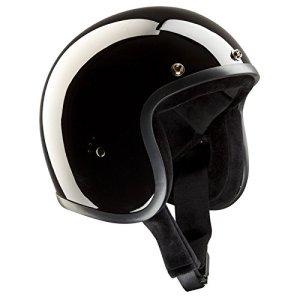 Bandit Casque jet Noir brillant, casque moto avec visière