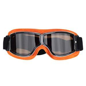 Buynow – 1 paire de lunettes rétro pour casque de moto hors route – Anti-buée et anti-rayures – Protection oculaire parfaite