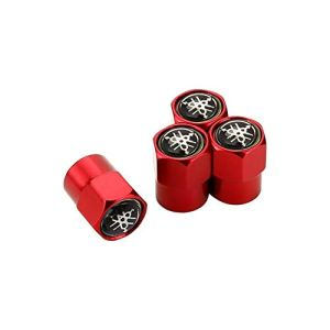 Car Styling Métal ENJOLIVEURS Stem Tire Valve Caps Décoration For Yamaha Majesty R6 R1 R3 FZL Vstar MT 07 09 Banshee (Color : Red)