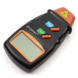 CITTATREND Tachymètre Numérique Compte-tours Digital Professionnel Écran LCD Tachomètre Compteur de Tours Autochange avec Batterie Résistant 6F22 9V Résistante Sans Contact RPM Tach